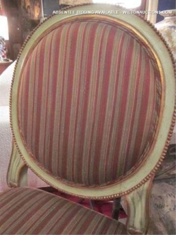 69: PAIR OF FRENCH LOUIS XVI STYLE CHAIRS WITH VERDIGRI - 3