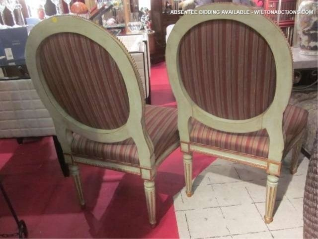69: PAIR OF FRENCH LOUIS XVI STYLE CHAIRS WITH VERDIGRI - 6