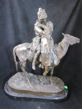 """78: BRONZE SCULPTURE """"THE LOVERS"""" - RUSSIAN AFTER FABER"""