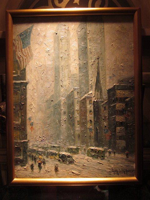 50: GUY CARLETON WIGGINS (1883-1962) OIL PAINTING-BOARD