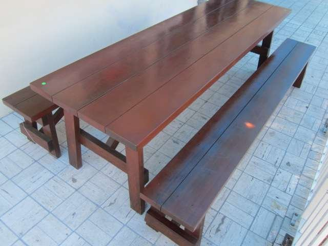 1: BEAUTIFUL INDOOR OR OUTDOOR PICNIC TABLE AND PAIR OF - 2