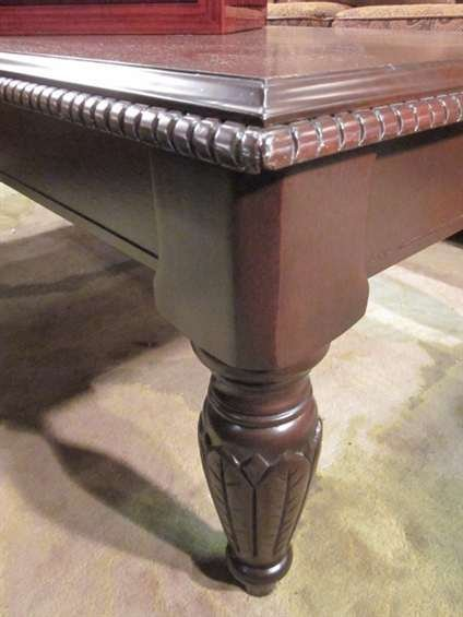 4: TRADITIONAL STYLE DARK WOOD COFFEE TABLE, APPROX 4'L - 2