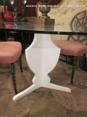 22: NEW, NEVER USED CONTEMPORARY DINING TABLE WITH CLAS