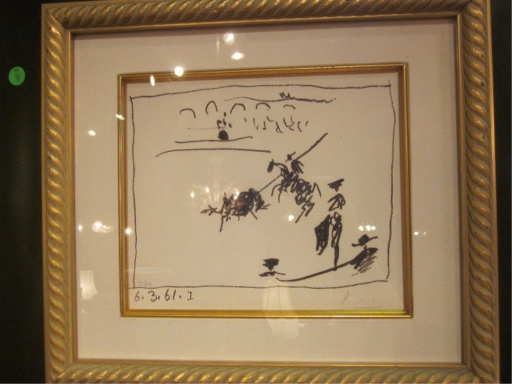 "77: PABLO PICASSO (SPANISH, 1881-1973) - ""LA PIQUE, 196 - 2"