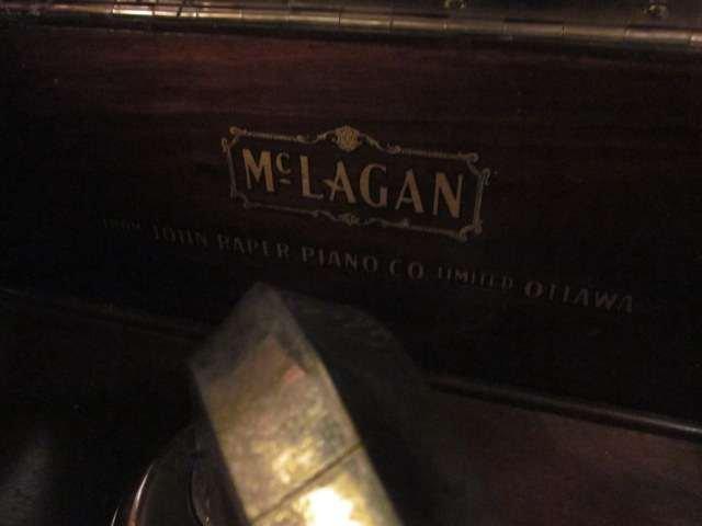 80: VINTAGE McLAGAN PHONOGRAPH IN WOOD CABINET, WORKING - 4