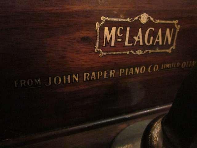 80: VINTAGE McLAGAN PHONOGRAPH IN WOOD CABINET, WORKING - 8