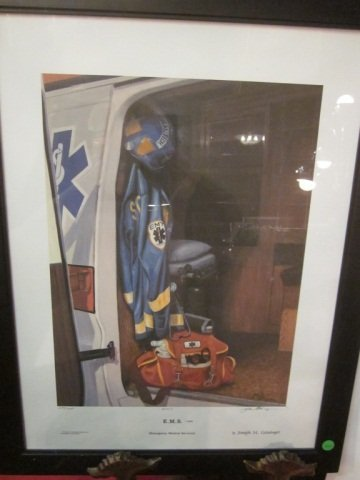 """11: LIMITED EDITION LITHOGRAPH, """"E.M.S."""" NUMBER 1070 OF"""