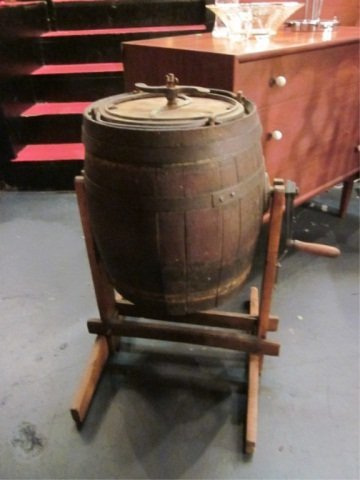 1: ANTIQUE LATE 19TH CENTURY BUTTER CHURN