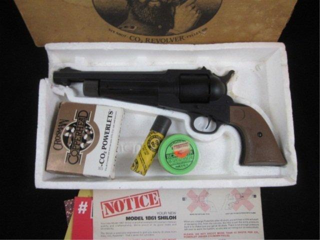 1A: CROSMAN SHILOH MODEL 1861 PELLET GUN PISTOL - 2