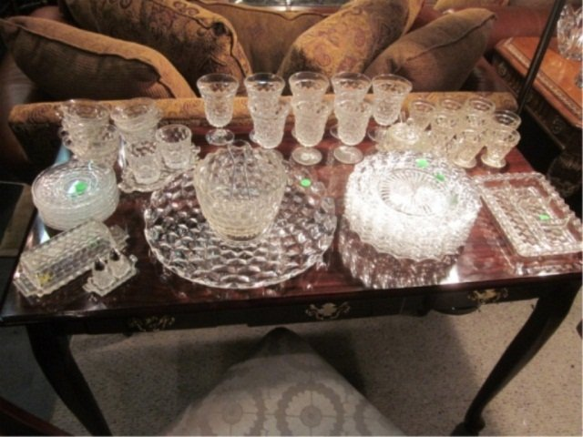 17: 49 PC SET VINTAGE FOSTORIA GLASS SERVICE WITH MANY