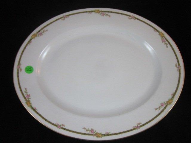 21: HUGE T & V LIMOGES FRANCE OVAL PLATTER, #6928, APPR