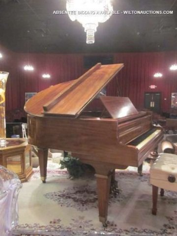 69: VINTAGE 1920's KIMBALL WALNUT BABY GRAND PIANO, 5'3