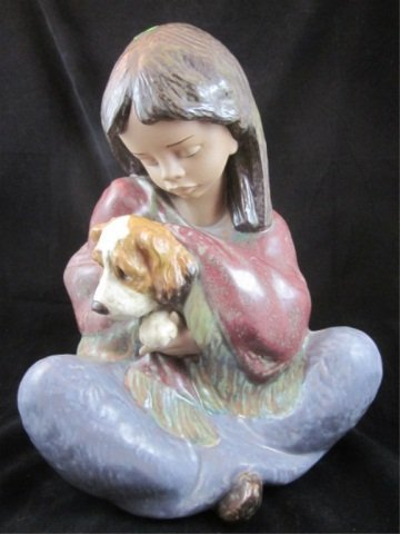 "78: RETIRED LLADRO PORCELAIN FIGURINE ""LOYAL COMPANION"""