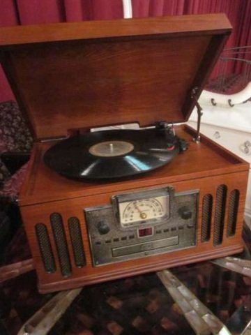 12: CROSLEY CR74 MUSICIAN ENTERTAINMENT CENTER - WITH P - 2