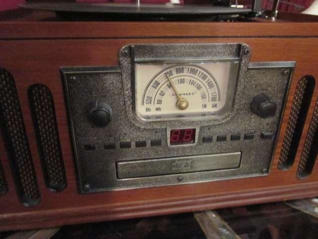 12: CROSLEY CR74 MUSICIAN ENTERTAINMENT CENTER - WITH P - 3