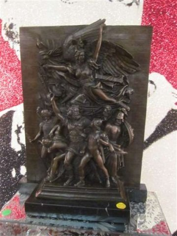"""72: BRONZE SCULPTURE OF WINGED VICTORY, APPROX 15 1/2"""""""