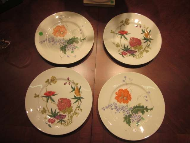 75: FOUR A. RAYNAUD & CO. LIMOGES FRANCE PLATES, APPROX