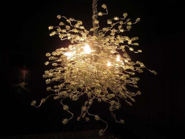 81: ONE OF KIND CONTEMPORARY CHANDELIER BY SOUTH FLORID