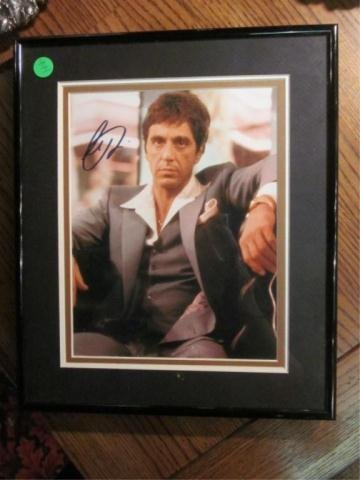 "2: AUTOGRAPHED PHOTO OF AL PACINO AS ""SCARFACE"""