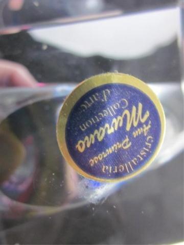 9A: MURANO STYLE ART GLASS CRESCENT SCULPTURE, APPROX 1 - 8