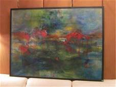 126 LARGE CONTEMPORARY ABSTRACT ON CANVAS SIGNED BY A