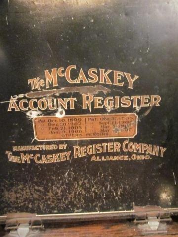 8: ANTIQUE MCCASKEY ACCOUNT REGISTER - 2