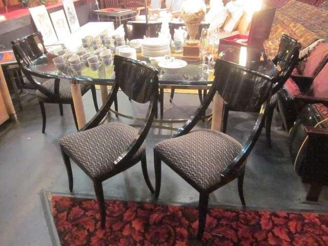 20: SET OF 6 CONTEMPORARY NEOCLASSICAL CHAIRS, BLACK LA