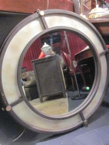 4: METAL FRAME ROUND CONTEMPORARY MIRROR, APPROX 2 1/2'