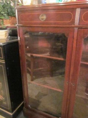 22: #2 OF TWO AVAILABLE VINTAGE MAHOGANY BOOKCASES, LOC