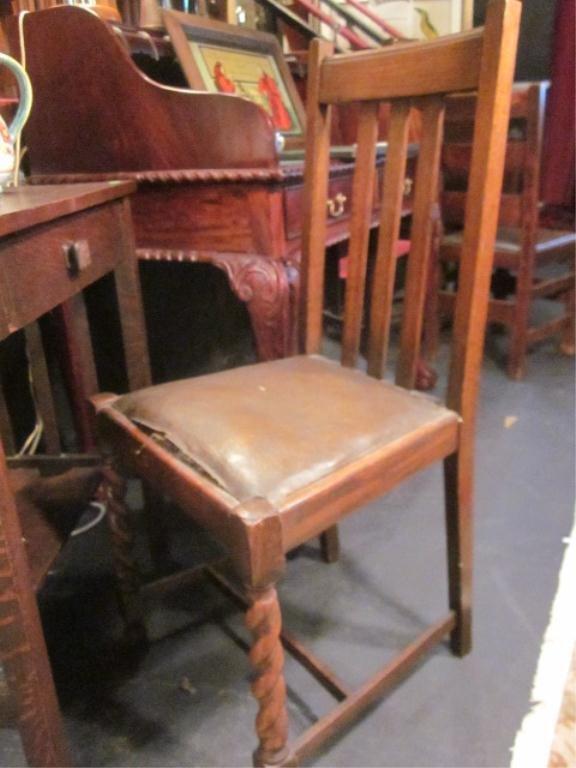 9: ANTIQUE ARTS AND CRAFTS STYLE SLATBACK CHAIR
