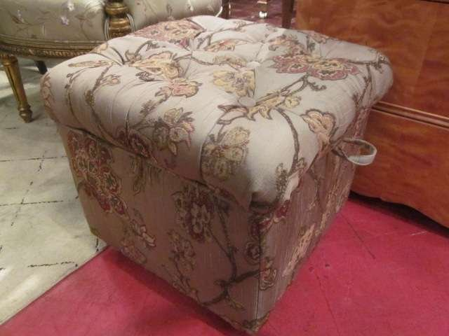 3: TUFTED UPHOLSTERED STORAGE OTTOMAN WITH OVERSIZE FLO