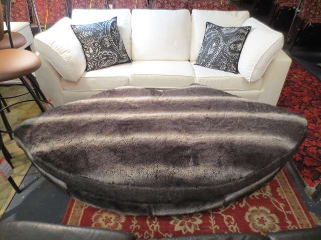 18: LARGE CONTEMPORARY OTTOMAN, NEWLY REUPHOLSTERED WIT