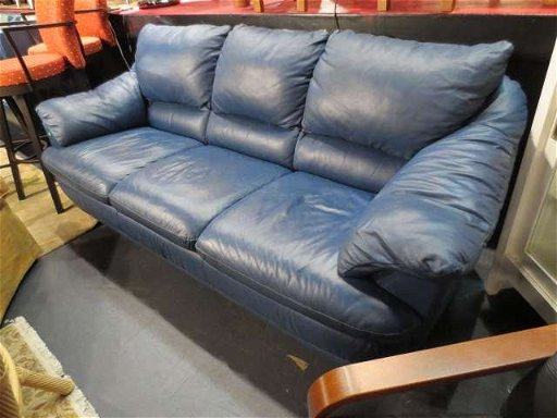 Sensational 35 Contemporary Slate Blue Leather Sofa Chrome Feet Ibusinesslaw Wood Chair Design Ideas Ibusinesslaworg