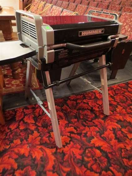 12: HUMMER PORTABLE BAR-B-QUE WITH COLLAPSIBLE STAND