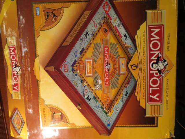 1: MONOPOLY PREMIER 70TH ANNIVERSARY EDITION, NEVER USE - 2