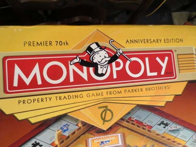 1: MONOPOLY PREMIER 70TH ANNIVERSARY EDITION, NEVER USE - 3