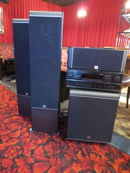 5: DENON SURROUND SOUND SYSTEM WITH JBL SPEAKERS