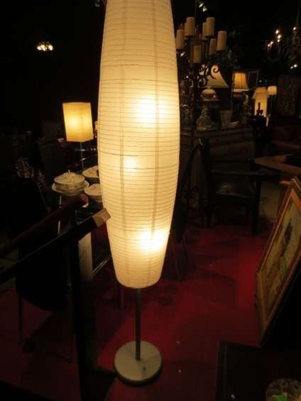 10: CONTEMPORARY RICE PAPER FLOOR LAMP, APPROX 5.5'H