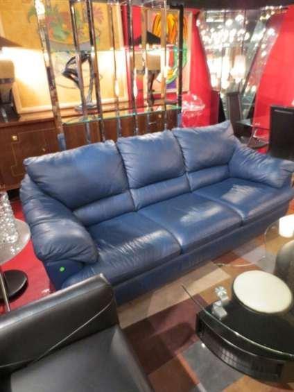 Outstanding Slate Blue Leather Sofa Ibusinesslaw Wood Chair Design Ideas Ibusinesslaworg