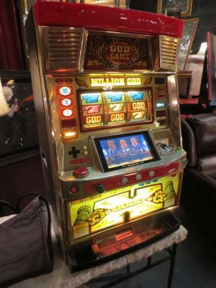 "3: JAPANESE SLOT MACHINE, ""THE GOD GAME"", TOKEN OPERATE"