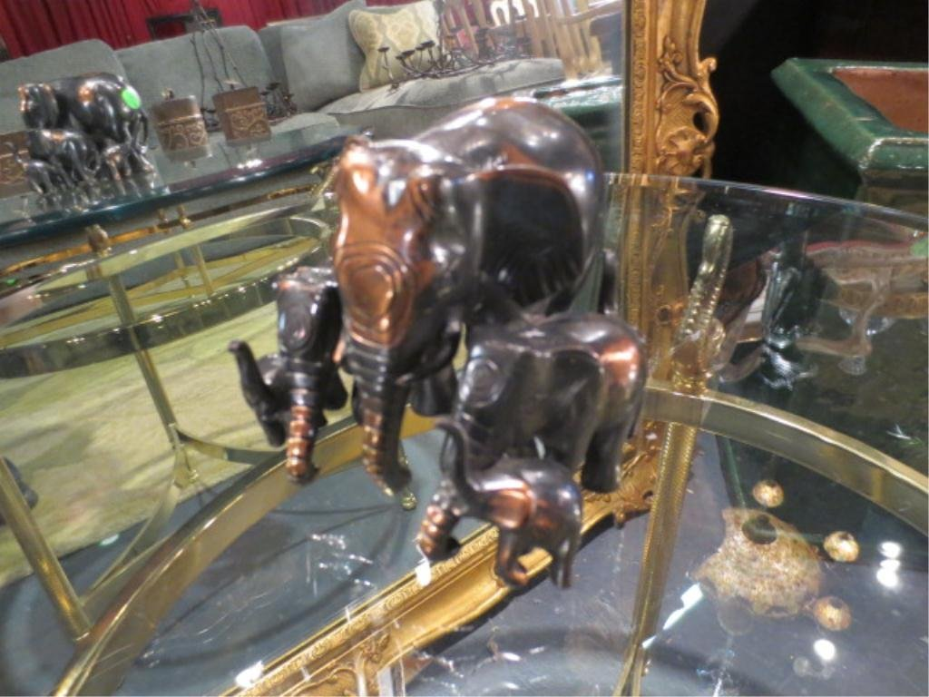 """20: METAL ELEPHANT FAMILY, APPROX 4"""" HIGH"""