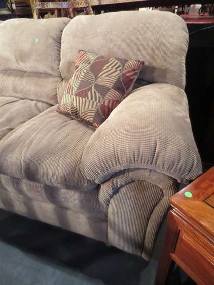 11: # 2 OF TWO AVAILABLE CONTEMPORARY TAN SOFAS, ROLL A