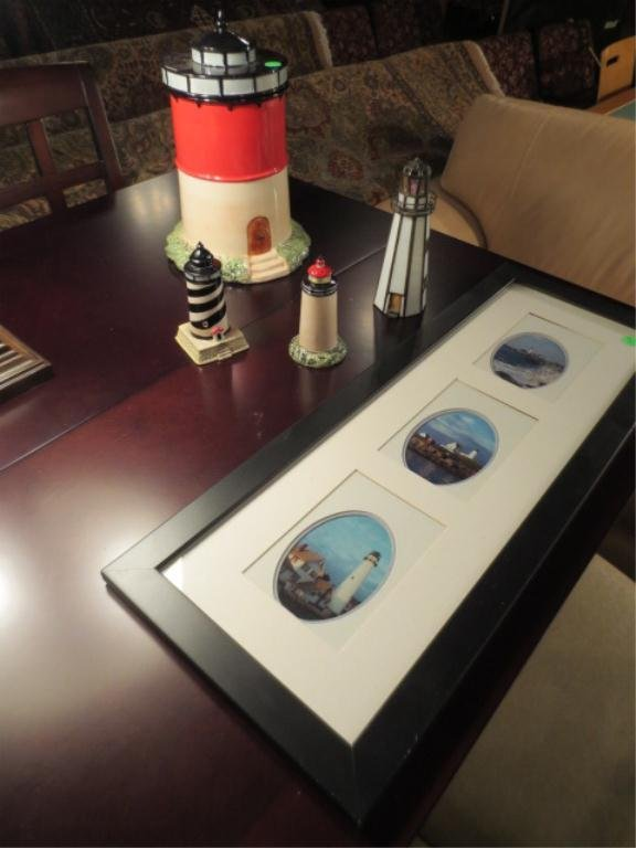 6: 5 PC LIGHTHOUSE COLLECTION, INCLUDES SALT & PEPPER S