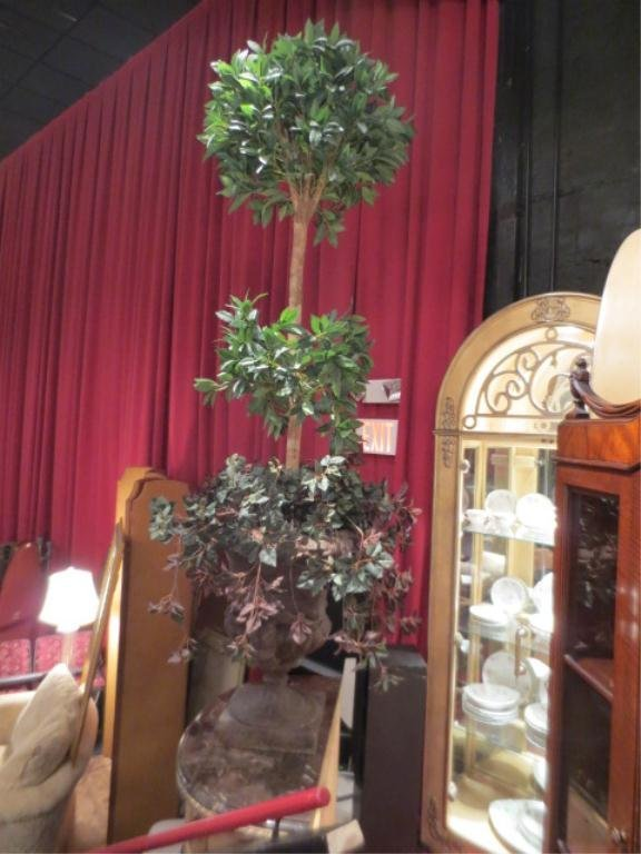 19: #1 OF TWO AVAILABLE FAUX TOPIARIES, IN COMPOSITE UR