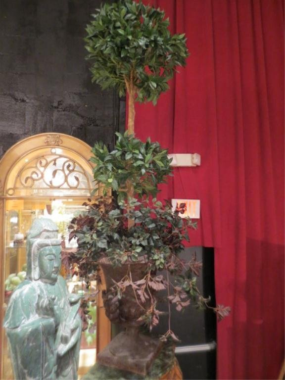20: #2 OF TWO AVAILABLE FAUX TOPIARIES, IN COMPOSITE UR