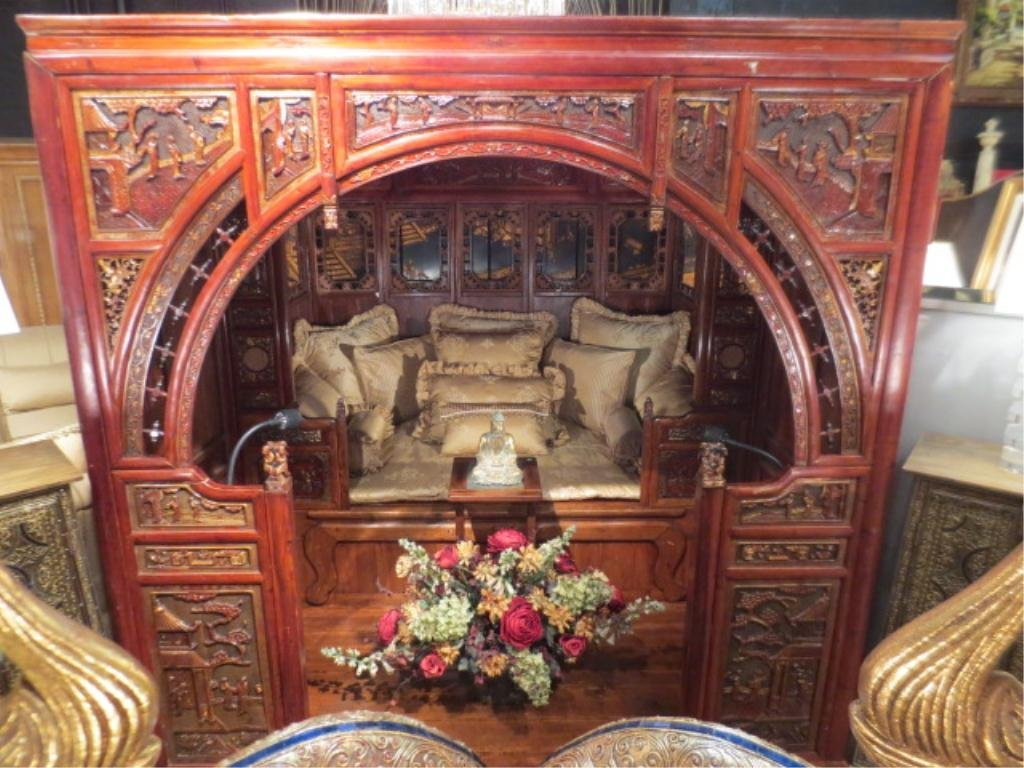 """100: CHINESE """"TWO ROOM"""" MARRIAGE BED, ALSO KNOWN AS AN"""