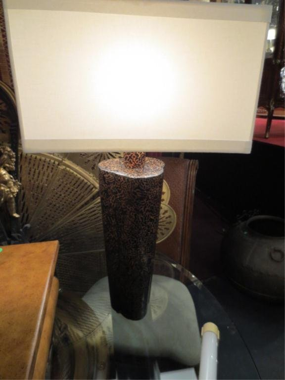6: CONTEMPORARY TABLE LAMP, RECTANGULAR WHITE SHADE, AP