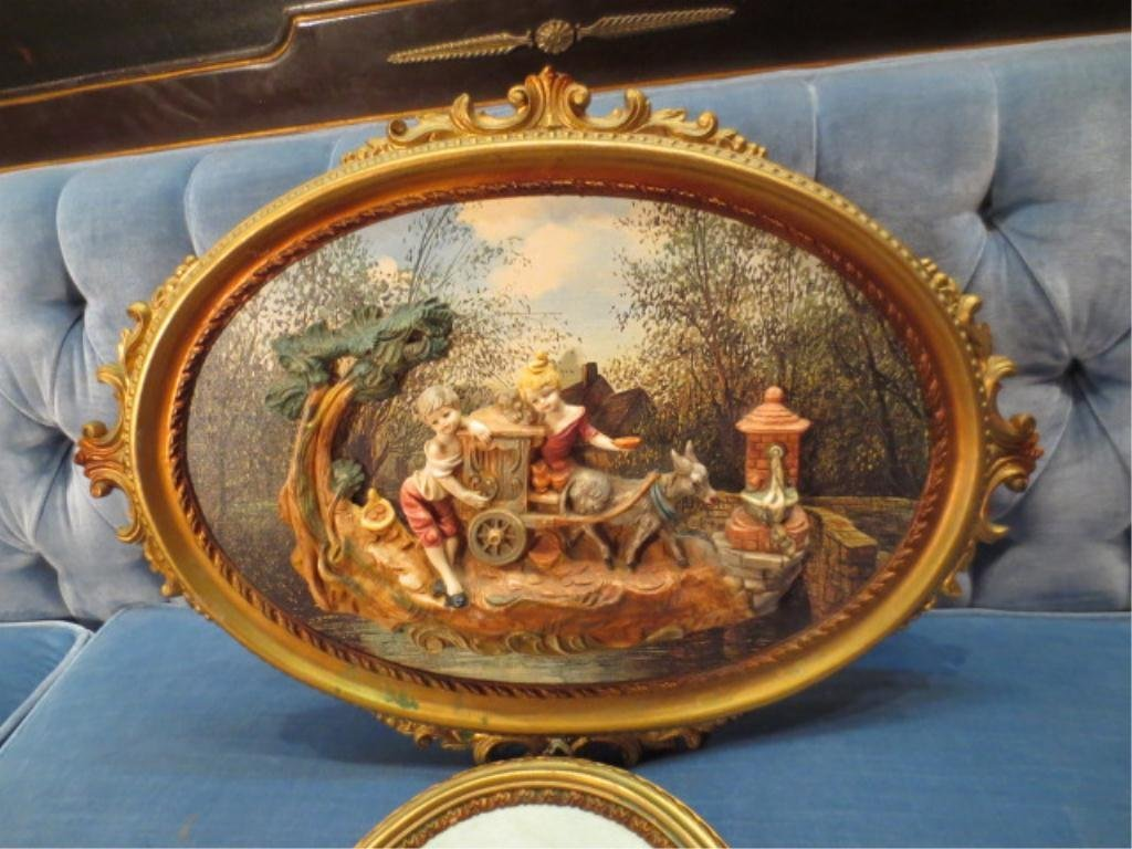 8: LARGE CAPODIMONTE STYLE PORCELAIN SCENE, MADE IN ITA