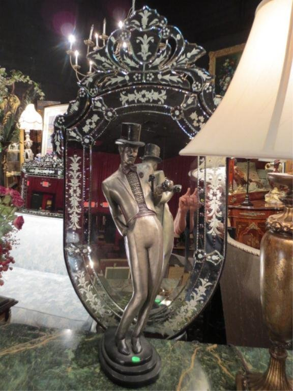 38: VENETIAN STYLE MIRROR, CLASSIC SHIELD SHAPE WITH OR
