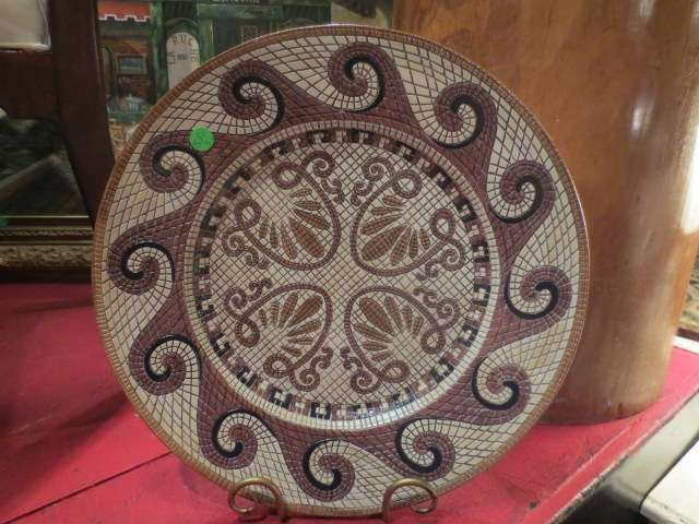 9: BLOOMINGDALE'S ITALY PLATTER WITH MOSAIC WAVE DESIGN